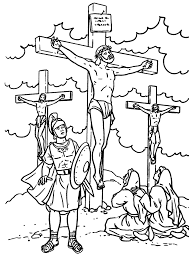 Jesus Crucified Coloring Page