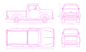 Cab To Axle Body Length Chart Ford Ford F 100 1956 Dimensions Drawings Dimensions Guide