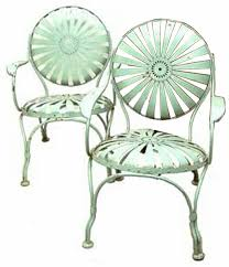 Photo: These French garden chairs are made of spring-steel painted ... /  LJWorld.com
