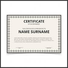 Certificado Retro Blanco Y Negro Descargar Vectores Gratis
