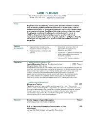 Samples Of Teaching Resumes Samples Of Resume Format Resume Format