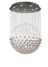 floating crystal ball pendant chandelier 2 sizes regarding sphere with crystals plans 28