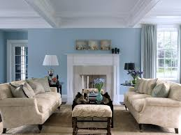 blue living rooms interior design. Delighful Blue Sky Blue And White Scheme Color Ideas For Living Room Decorating With  Vintage Style Beige Fabric Sofa Furniture That Have Low Legs Complete The  For Rooms Interior Design