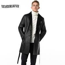 2019 luxury fashion mens long leather trench coat solid black faux fur coat men winter warm business men long jacket l 3xl from ingridea 237 75 dhgate