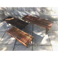 custom slat benches retro modern