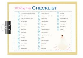 wedding checklist templates wedding day checklist free wedding day checklist templates