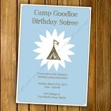 Vintage Camping Themed Birthday Shower And By BlissfulPrints Camping Themed Baby Shower Invitations