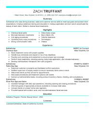 Esthetician Resume Cover Letter Sample - http://www.resumecareer.info/