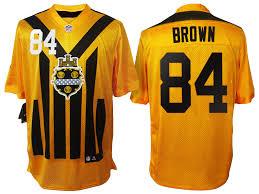 Antonio Steelers Brown Hoodie Anniversary 100th Nfl Pittsburgh Gold