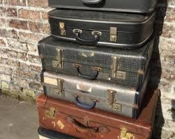 vintage luggage. vintage suitcases | luggage home decor storage solution leather n