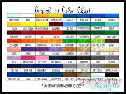 Oracal 651 Vinyl Color Chart Digital Download Svg Png Pdf File Bundle Downloadable Color Chart Customized Color Chart