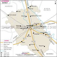 Lucknow District Map