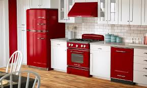 engaging mid century red white kitchen appliances ideas by high