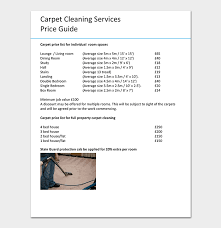 How To Price A House Cleaning Job Cleaning Price List Template 12 In Word Pdf Format
