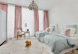 sheer white bedroom curtains. Mesmerizing Childrens Bedroom With Lvely Twin Beds And Chandelier Decorated By Wide Windows Pretty Sheer White Curtains N