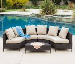 small lounge furniture. Sigma Outdoor Rattan Furniture 5piece Wicker Lounge Set Small Sectional Sofa