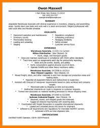 Free Warehouse Worker Resume Templates Responsibilities Job Samples