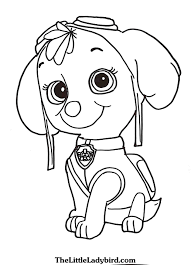 Paw Patrol Coloring Pages Free Throughout Paw Marshall Page