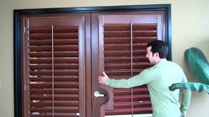 wood shutters on french doors mr b s shutters blinds 805 654 1028 818 716 1326