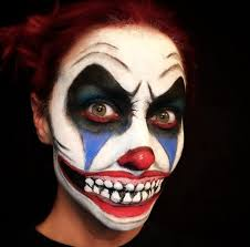 clown makeup inspired by it is all over insram you ll be terrified