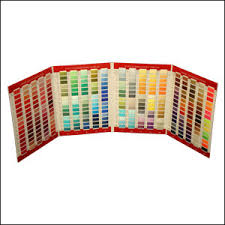 Floriani Ftc360m Real Thread 360 Colors Chart Card 40wt Poly Metallic Variegated For Machine Embroidery