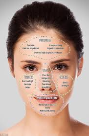 Skin Analysis Chart Chinese Face Mapping Skin Analysis Chart Video Instructions