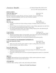 How To List High School Education On Resume High School Student