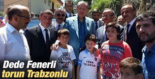 Rize'de bulunan Başbakan Erdoğan torunuyla poz verdi