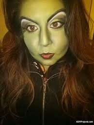 wicked witch halloween makeup