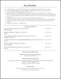Sample Resume Objectives For Physical Therapist Best of Massage Therapist Resume Objective Universitypress