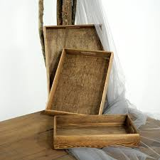vintage wood tray handmade rectangle cupcake pallet wedding table decoration perfume makeup food