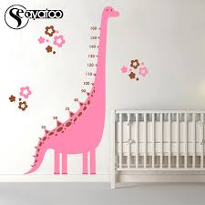Vinyl Growth Chart Us 20 98 Dinosaur Height Measure Growth Chart Ruler Vinyl Wall Sticker Decal Cartoon Kids Room Home In Wall Stickers From Home Garden On