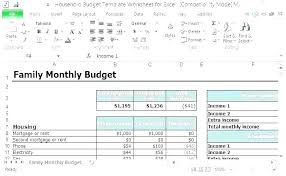 Simple Household Budget Template Free Home Monthly