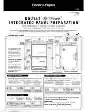 fisher paykel dishdrawer dsi integrated manuals fisher paykel dishdrawer ds603i integrated accessory installation manual