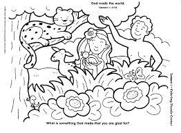 Free Sunday School Creation Coloring Pages Childrens Church Ideas