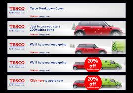 tesco car breakdown banners tesco car insurance