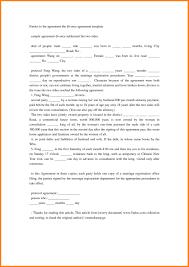 Divorce Settlement Agreement Form | Iancconf.com