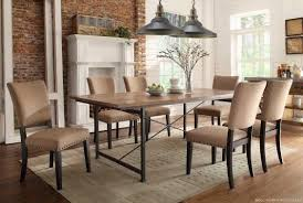 chair dining room tables rustic chairs:  dining room dark brown leather chairs rustic table plans six linen upholstered chair sets has an
