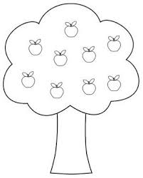 apple tree clipart. black and white apple tree clipart 04