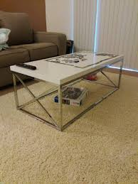 monarch coffee table glossy white with