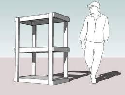 freestanding shelving for sheds