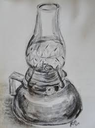 lamp pencil drawing.