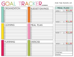 Goal Chart Template Goal Tracker Chart Template Download Printable Pdf