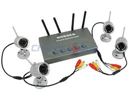 Wireless 4-Channel Camera 2.4GHz Security System RC530A Receiver IR (Model