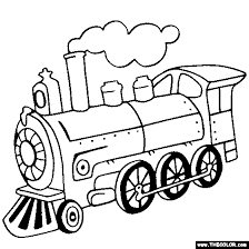 Small Picture Steam Locomotive Train Coloring Page