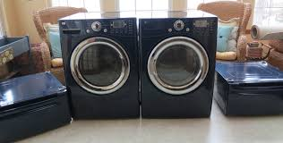 blue washer and dryer.  Blue LG Frontload WasherDryer With PedestalsCOBALT Blue And Washer Dryer