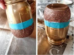diy metallic mason jars metallic spray painthow