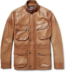 ralph lauren purple label thornhill burnished leather field jacket
