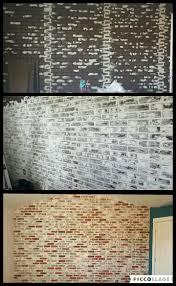 Painting Fake Brick Paneling Best 25 Faux Brick Panels Ideas On Pinterest Faux Brick