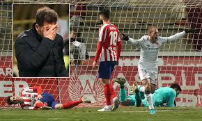 Cultural Leonesa 2-1 Atletico Madrid: Diego Simeone's side ...